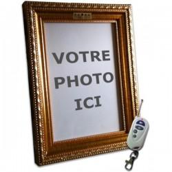Cadre photo avec caméra espion intégrée