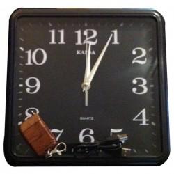 Horloge murale carré camera espion télécommandé 4GO