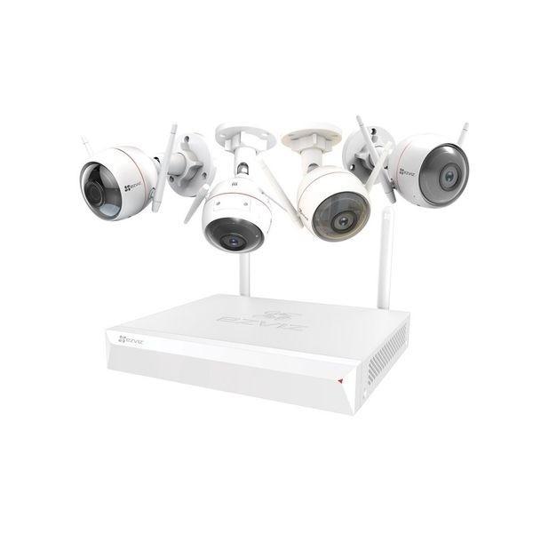 4 cameras de surveillance 1080P wifi avec enregistreur de 1 Tera