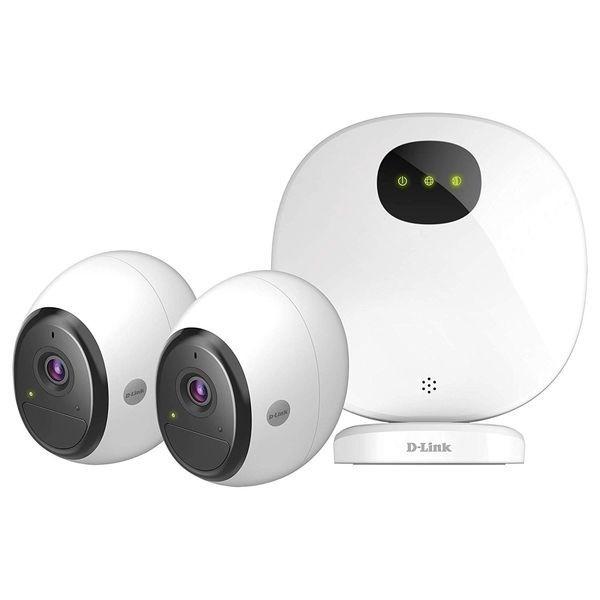 2 Cameras de surveillance 1080P wifi avec station d'accueil