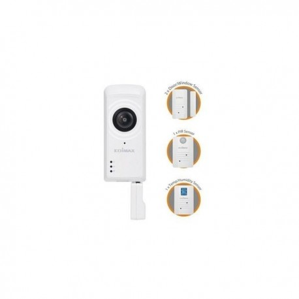 Caméra de surveillance avec kit complet 1080P et 4 détecteurs