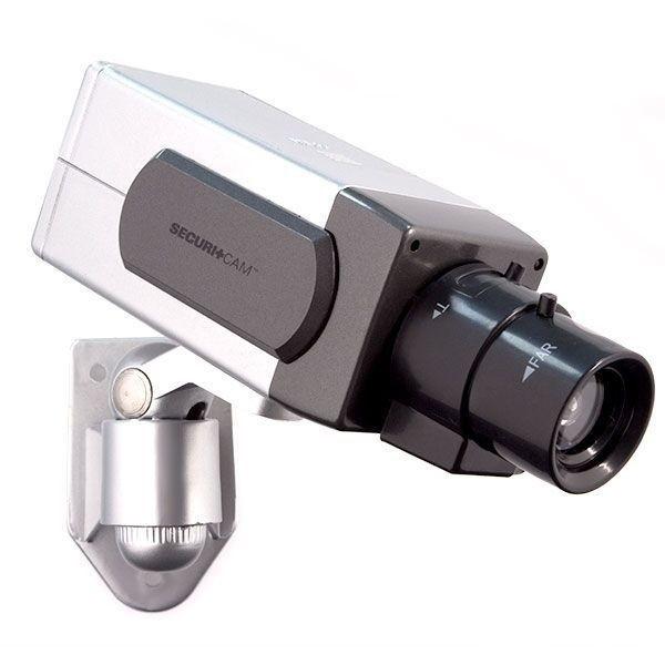 Caméra de surveillance factice avec témoin lumineux LED rouge