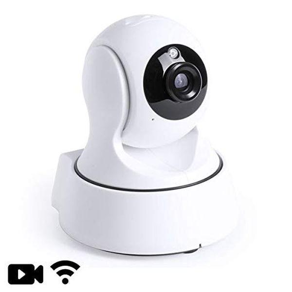 Caméra de surveillance IP rotative vision nocturne Wifi compatible iOS et Android