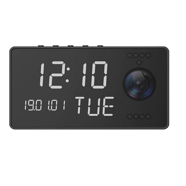 Réveil camera espion Wifi 1080P audio bidirectionnel et vision de nuit
