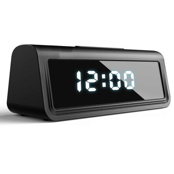 Réveil camera espion Wifi Ultra HD 4K Infrarouge detecteur de mouvement