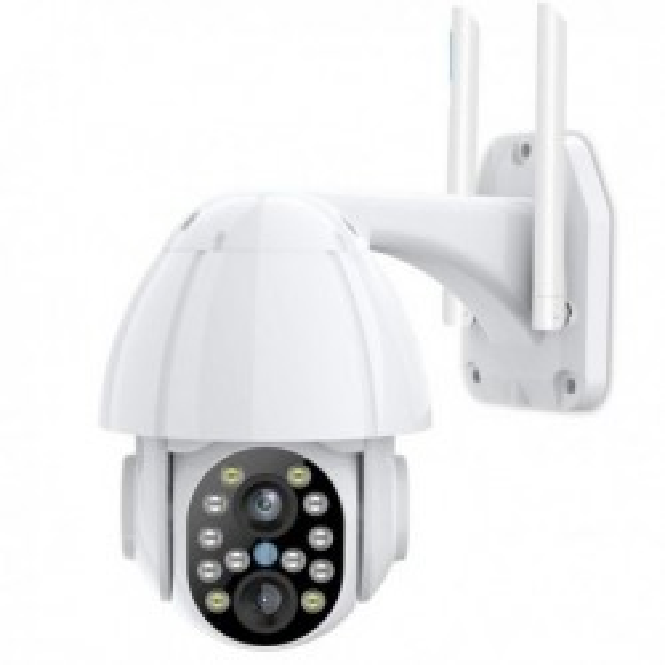 Camera Rotative de surveillance Wifi et IP 1080P Zoom X4 vision de nuit et lampe