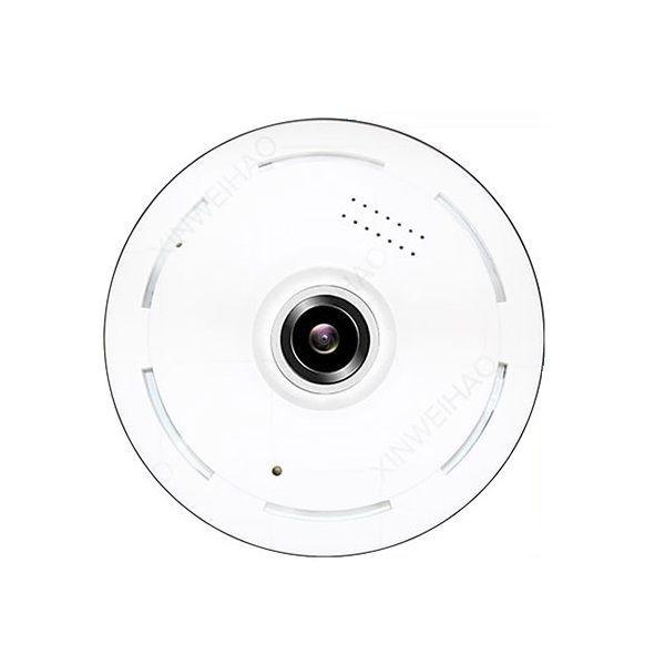 Caméra de surveillance Fisheye vu à 360° Wifi IP infrarouge et detecteur de mouvement