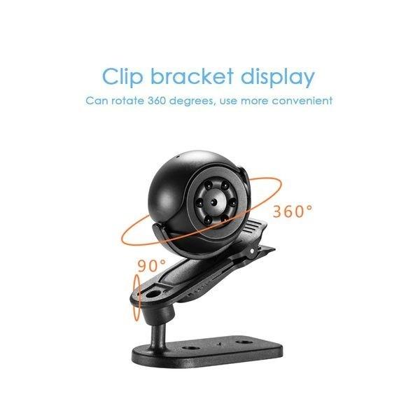Micro camera espion 1080P détecteur de mouvement et vision de nuit