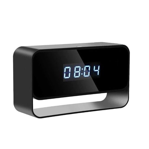 Réveil caméra espion de surveillance Full HD 1080P IP Wifi vision à infrarouge