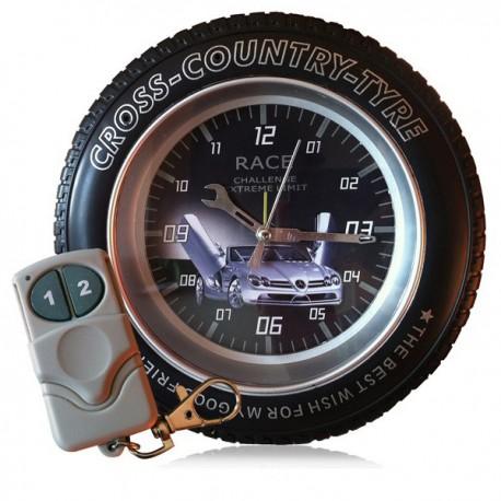 Réveil en forme de roue camera espion 4 go telecommandé
