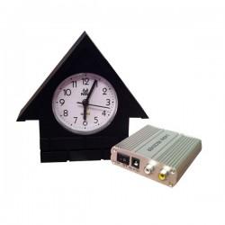 Horloge maisonnette caméra de surveillance avec recepteur