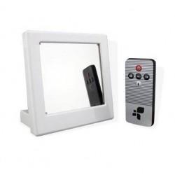 Réveil blanc caméra espion télécommandé