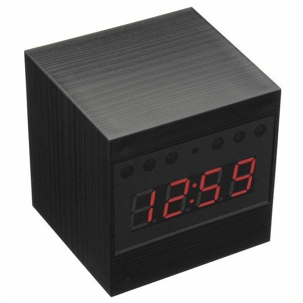 Réveil camera espion HD 1080P télécommandé carré
