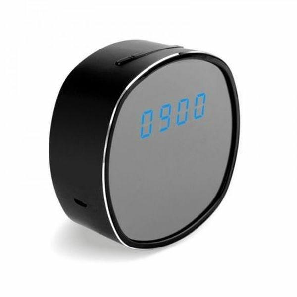 Réveil camera espion HD 720P Wifi vision de nuit rond