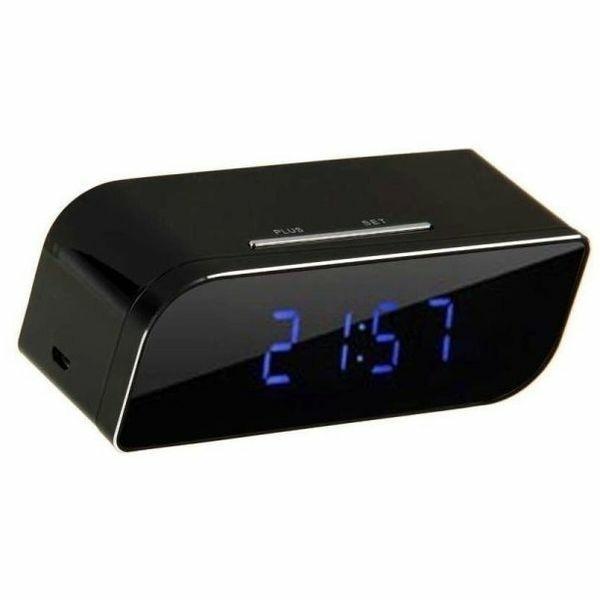 Réveil camera espion HD 1080P Wifi vision de nuit rectangle
