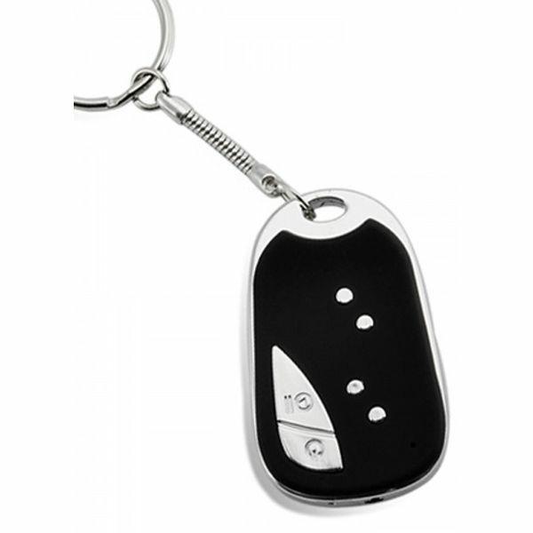 Porte-clés caméra espion gris noir