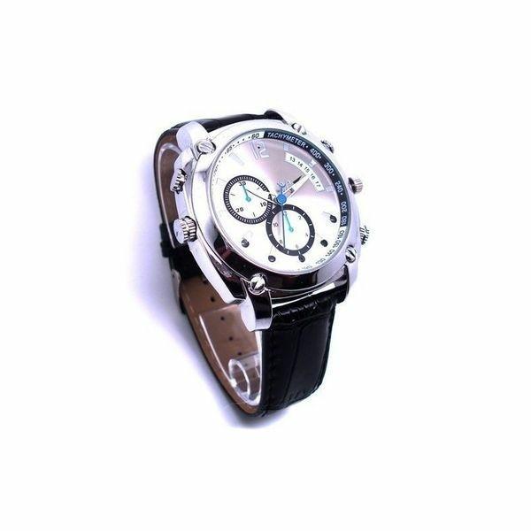 Montre caméra espion HD 1080P 8Go gris Vision de nuit waterproof